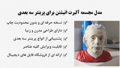 مدل مجسمه آلبرت انیشتن برای پرینتر سه بعدی