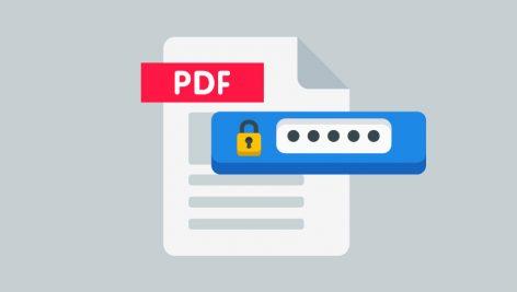 قفل کردن pdf